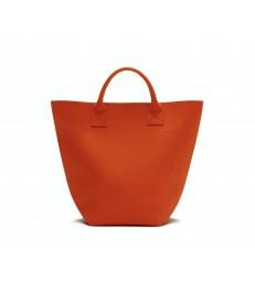 Orange Woollen Felt Shopper