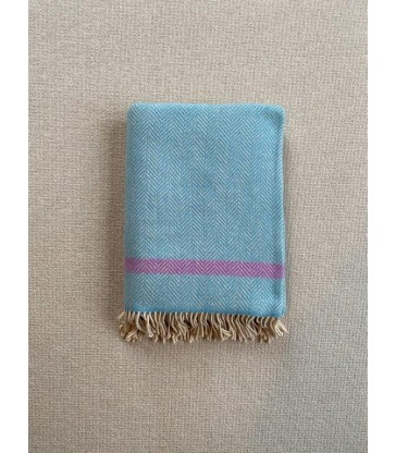 Aqua Lavender Merino & Cashmere Throw