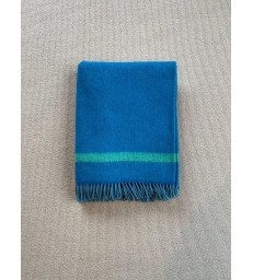 Blue & Green Merino & Cashmere Throw