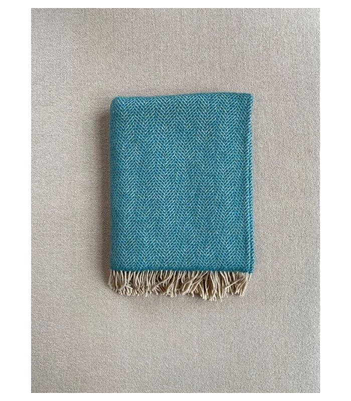 Teal Green Merino & Cashmere Throw