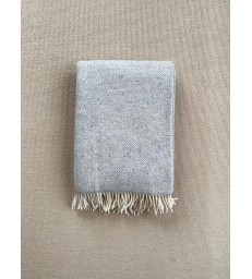 Light Grey Merino & Cashmere Throw