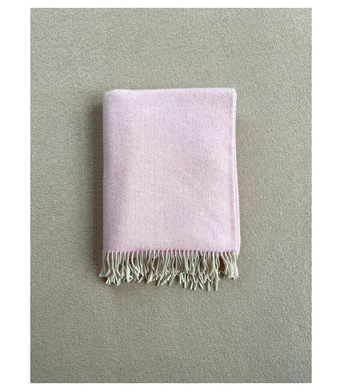 Pale Pink Merino & Cashmere Throw