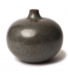 Dark Grey Round Ceramic Vase