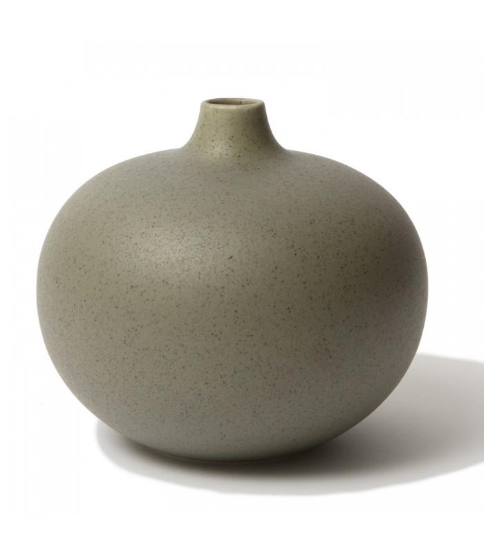 Olive Green Round Ceramic Vase