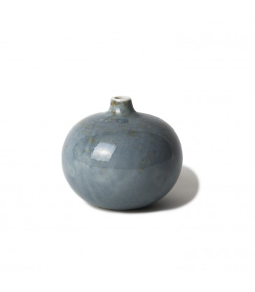 Small Light Blue Speckled Ceramic Vase