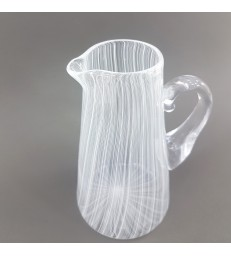 Glass Pouring Jug - White Stripes
