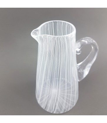 Fine Glass jug with with stripes
