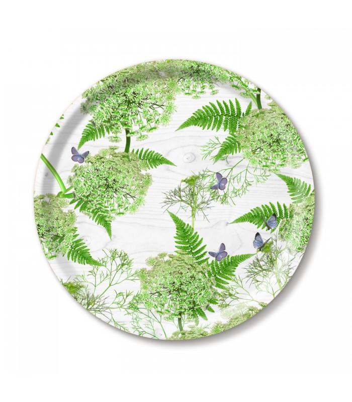39cm white dill birch tray