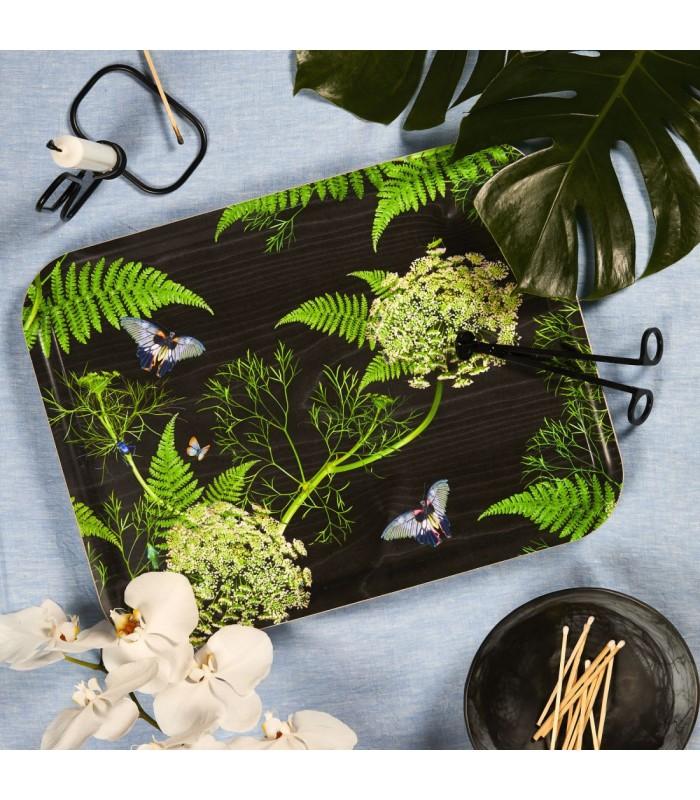 Rectangular Dill Black Birch Tray