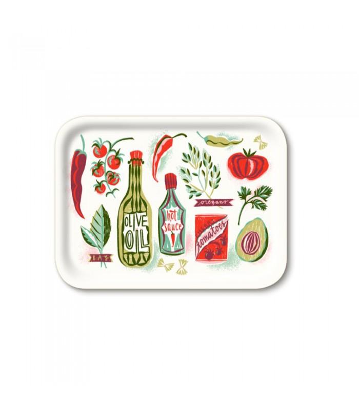 Rectangular Good Food Birch Tray