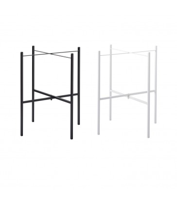 white or black metal tray table legs