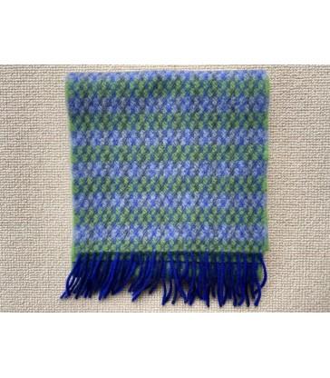 Wool Cashmere Scarf -  Blue Green Grey  - 24 x200cm