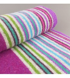 Purple Striped  Lambswool Scarf