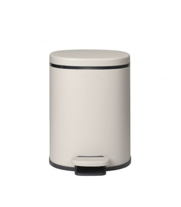 Pale Grey Pedal Bin - 29cm high