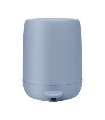 Pale Blue Pedal Bin- 30cm high