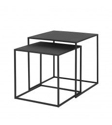 Nesting Coffee Tables in Black or Grey - Set of 2