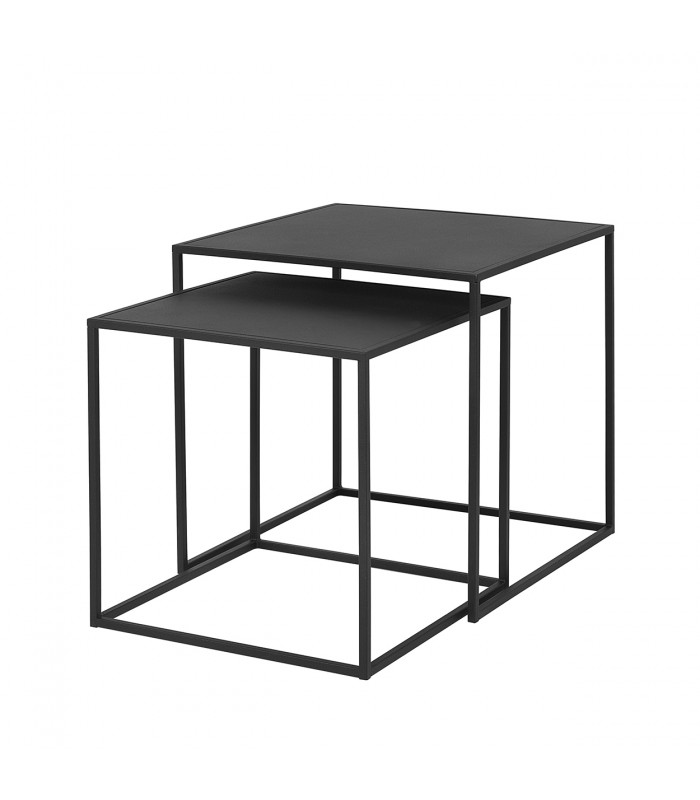 Nesting Coffee Tables in Black - Set of 2