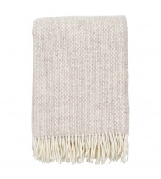 PREPPY Beige Melange Wool Throw