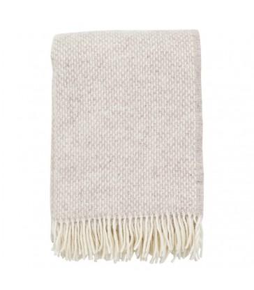PREPPY Beige Melange Wool Throw