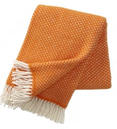 POLKA Orange Wool Throw