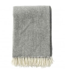 FRECKLES Granite ~Grey Wool Throw