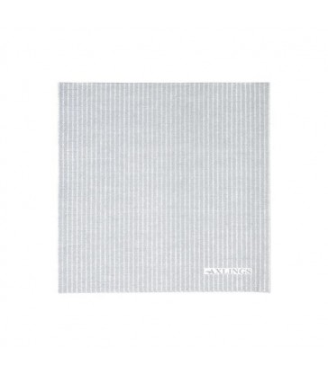 Grey Striped Paper Napkins - Pack 50