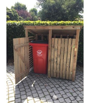 clever garden storage unit for your rubbish bins