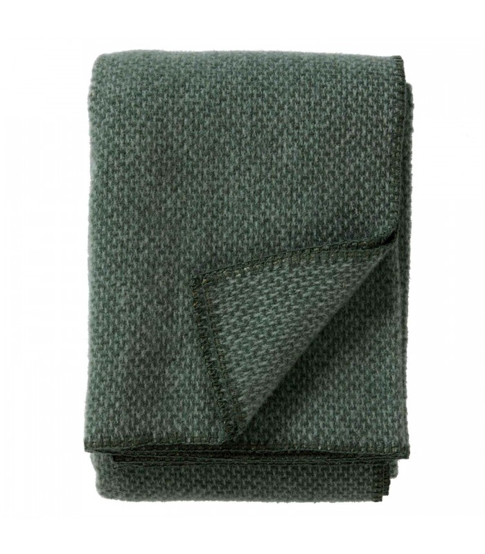 DOMINO Green Wool Throw from Klippan