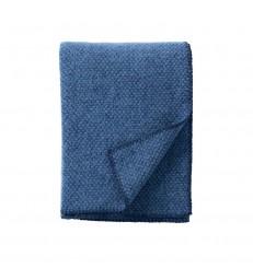 DOMINO Sea Blue Wool Throw