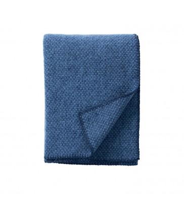 sea blue domino wool throw