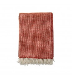 CHEVRON Ruby Red Wool Throw