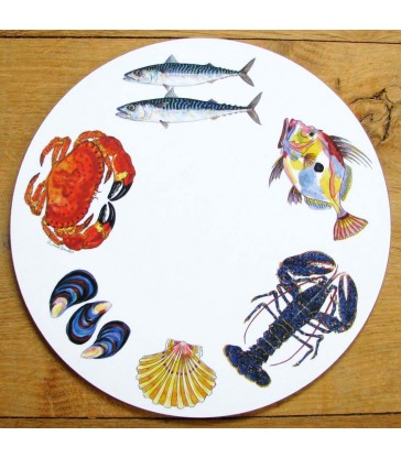 Tablemat Fish & Shellfish