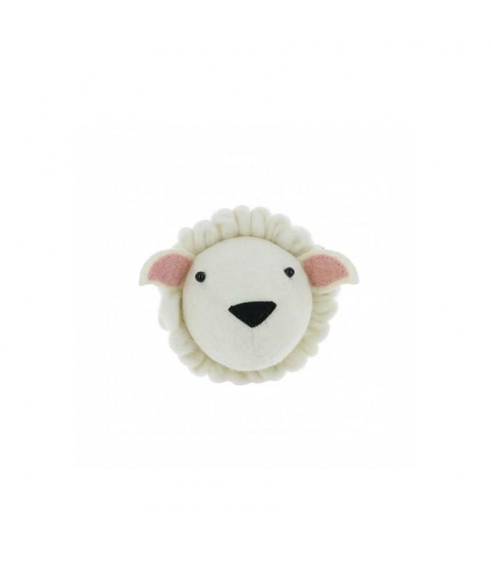 mini felt sheep head for kids room decor animal farm theme