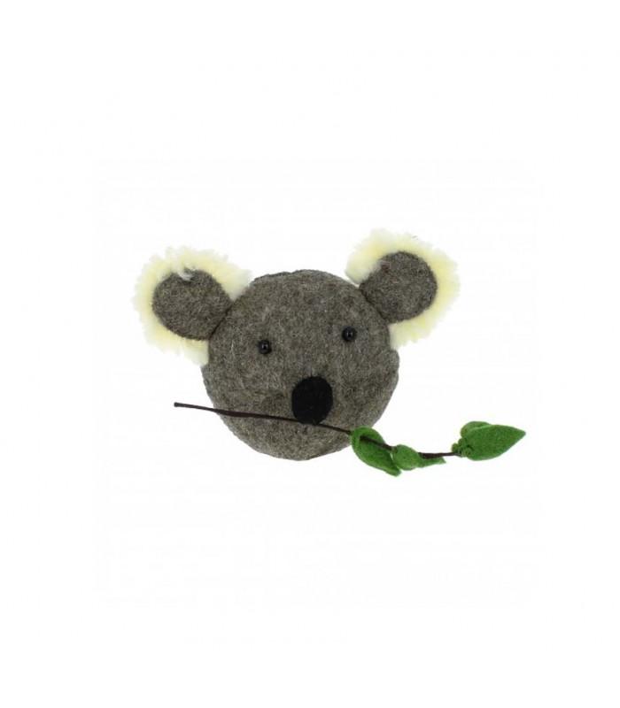 mini felt koala head from the blue door childrens room decor