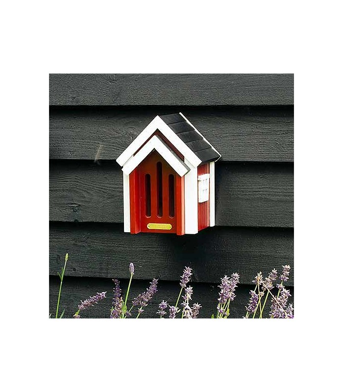 Butterfly Hibernation box in red gifts for gardeners