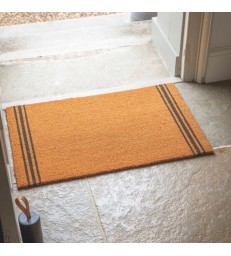 Coir Doormat 3 Stripes 90x60cm Med