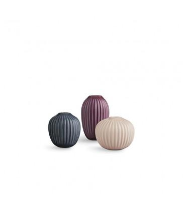 Set of 3 mini ceramic vases - Rose