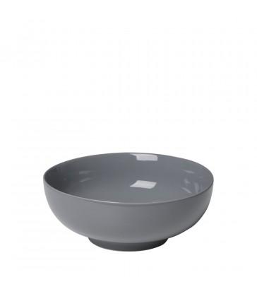 Large Dark Grey Porcelain Bowl 21cm Diameter
