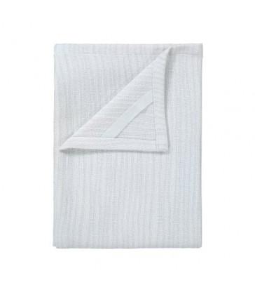 Two Cotton Tea Towels White/Grey
