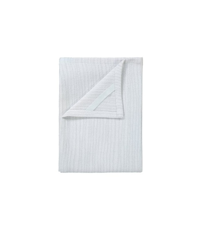 Two Cotton Tea Towels White/Grey