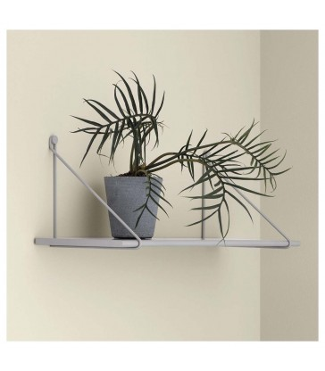 Grey Wall Shelf with Brackets