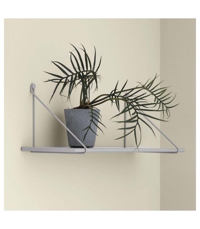 Grey Wall Shelf with Brackets