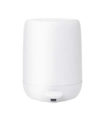 White Pedal Bin- 30cm high