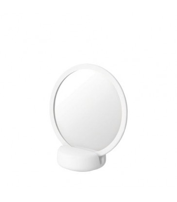 White Vanity Mirror with magnification
