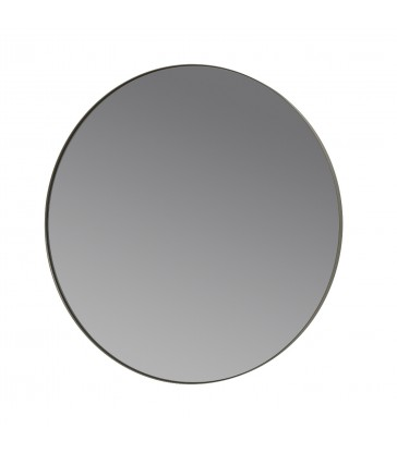 Round Wall Mirror - Steel Grey