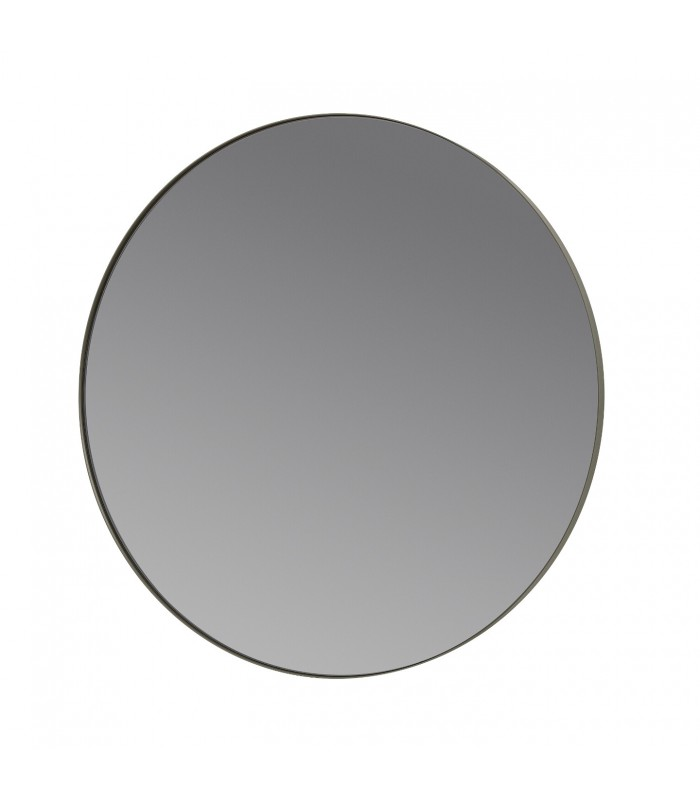 Round Wall Mirror - Steel Grey