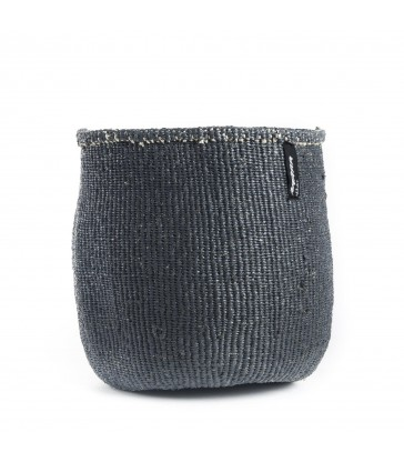 Small Grey Basket - recycled material. Fairtrade