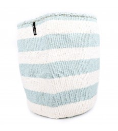 Large Basket Blue and White Stripe