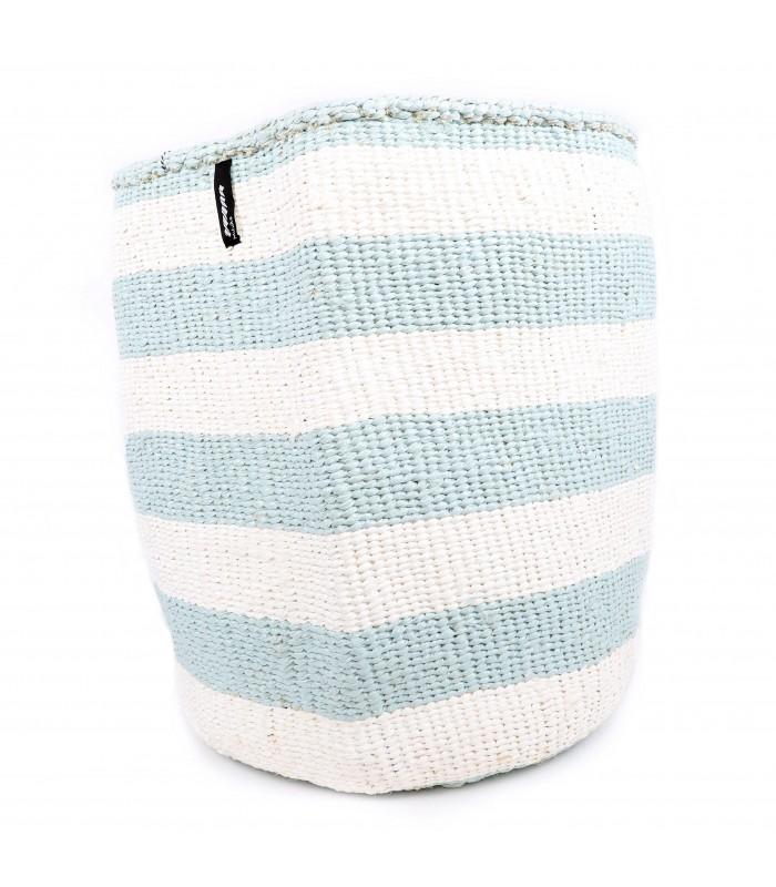 Large Basket Blue and White Stripe