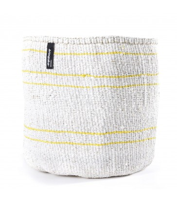 White Basket - Thin Yellow Line